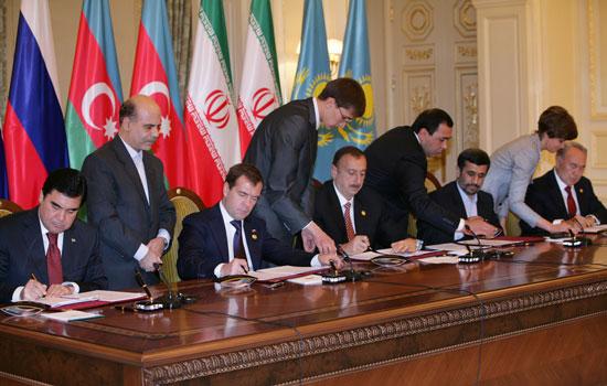 Подписано соглашение о сотрудничестве в сфере безопасности на Каспии (ДОПОЛНЕНО)(ФОТО)