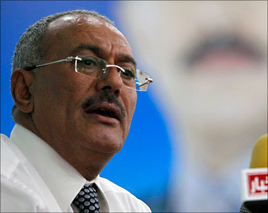 Ali Abdullah Saleh Yemens President For 33 Years Will Attend The Inauguration Of His Elected Successor Abd Rabu Mansour Hadi A Close Aide Said In