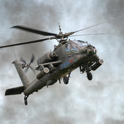 """В Калифорнии упал военный вертолет """"Apache"""""""