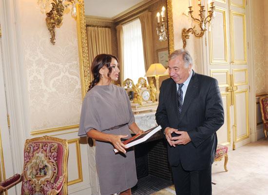 Azərbaycanın birinci xanımı Mehriban Əliyeva Fransa Senatının sədri ilə görüşüb (FOTO)