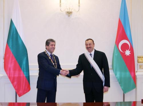 Bulgarian President confers Highest State Award on President Ilham Aliyev (PHOTO)