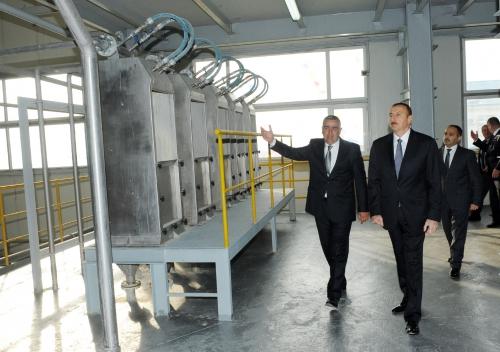 Azerbaijani President opens corn processing and glucose producing enterprise in Oguz (PHOTO)