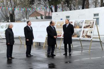 Azerbaijani president attends groundbreaking ceremony of Heydar Aliyev Center in Gakh region (PHOTO)