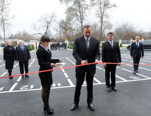 Azerbaijani president inaugurates secondary school in Gabala (PHOTO)