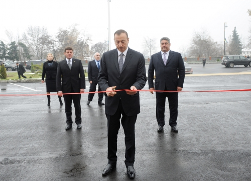 Azerbaijani president inaugurates Gabala Olympic Sports Complex (PHOTO)
