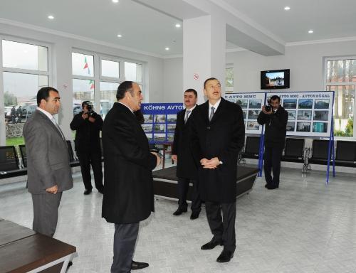 Azerbaijani President opens bus station in Gakh (PHOTO)