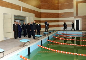 President Ilham Aliyev gets acquainted with Shaki Olympic Sports Complex after reconstruction (PHOTO)