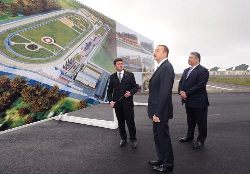 Azerbaijani President inspects construction work in Gabala Horse Racing Complex (PHOTO)