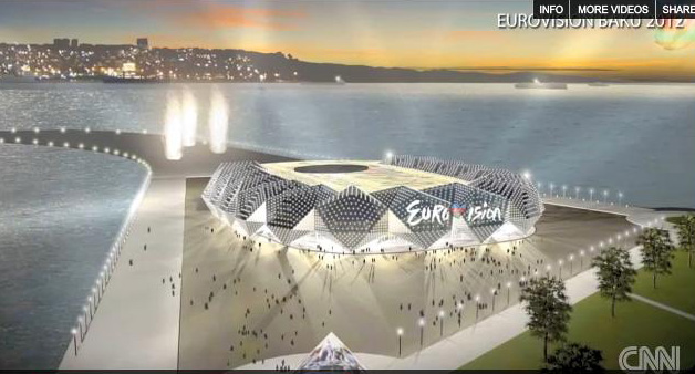 """Sketch of building to be possible venue for """"Eurovision 2012"""" Song Contest made public (PHOTO, VIDEO)"""