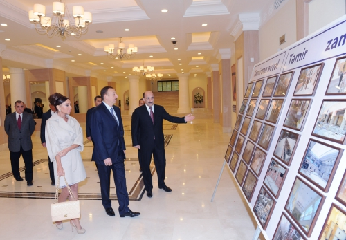 Azerbaijani president and his spouse attend opening of Nizami movie theatre after major reconstruction (PHOTO)