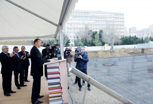 İlham Əliyev AMEA-nın Mərkəzi Elmi Kitabxanasının təməlqoyma mərasimində iştirak edib (FOTO)