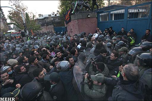 Iranian students burn UK flag in front of country's embassy in Tehran (UPDATE 3) (PHOTO, VIDEO)