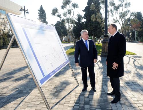 Azerbaijani President opens new underground pedestrian passages in Sabail district (PHOTO)