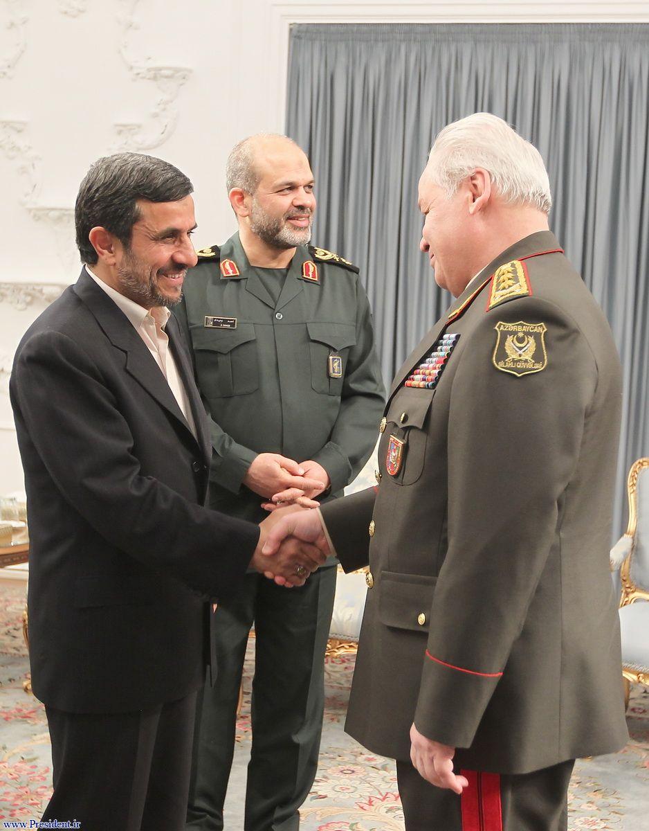 Министр обороны Азербайджана встретился с президентом Ирана (ФОТО)