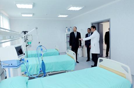 Президент Азербайджана принял участие в открытии Астаринской центральной райбольницы (ФОТО)