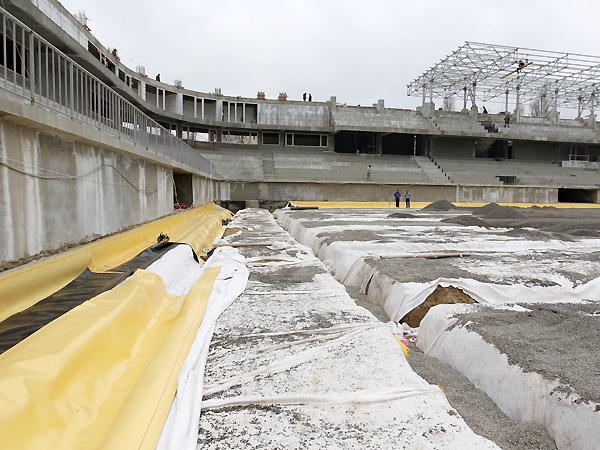 В Баку завершается строительство нового стадиона на 12 тысяч мест (ФОТО)