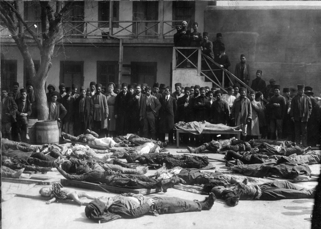 """Издана книга-альбом """"1918. Массовые убийства азербайджанцев в фотографиях и документах"""" (ФОТО)"""