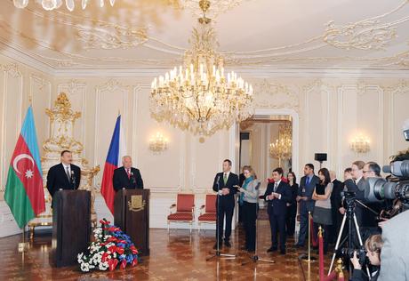 Prezident İlham Əliyev: Çexiya ilə Azərbaycan arasındakı əlaqələr çox dinamik şəkildə inkişaf edir (FOTO)