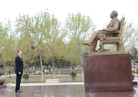 Prezident İlham Əliyev Ağstafa rayonuna səfərə gəlib (EOTO)