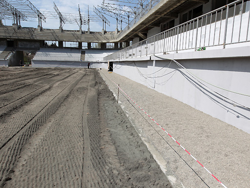 Bakıda inşa olunan yeni stadiondan son görüntülər (FOTO)