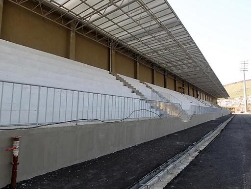 Bayıl qəsəbəsində inşa olunan yeni stadiondan son görüntülər (FOTO)