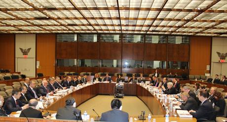 İqtisadi əməkdaşlıq üzrə Azərbaycan-ABŞ Hökumətlərarası Komissiyasının iclası başa çatıb (FOTO)