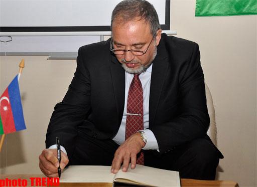 Aviqdor Liberman: İsrail və Azərbaycan bütün istiqamətlər üzrə münasibətləri inkişaf etdirirlər (FOTO)