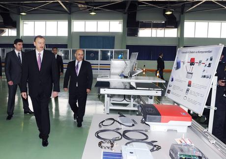 Prezident İlham Əliyev Sumqayıtda bir sıra zavodların açılışında iştirak edib (ƏLAVƏ OLUNUB) (FOTO)