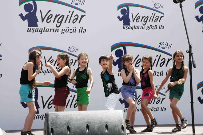 """""""Vergilər uşaqların gözü ilə"""" rəsm müsabiqəsinin 10 ilik yubileyi geniş qeyd olunub (FOTO)"""