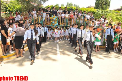 """Bakı Yol Polisi """"Yol hərəkəti qaydaları uşaqların gözü ilə"""" adlı tədbir keçirib (FOTO)"""