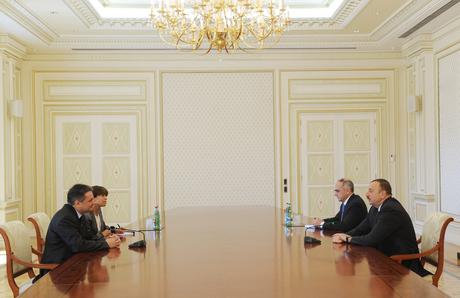 Azərbaycan Prezidenti Andorranın xarici işlər nazirini qəbul edib