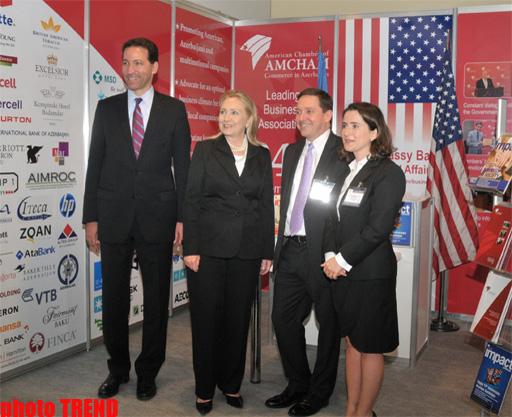ABŞ dövlət katibi Bakıda keçirilən beynəlxalq neft-qaz sərgi-konfransında olub (FOTO)