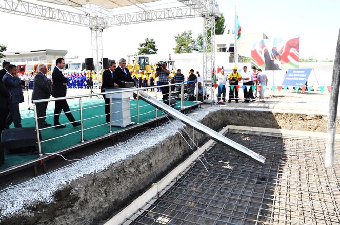 Sabirabad şəhərinin su təchizatı və kanalizasiya sistemləri yenidən qurulur (FOTO)