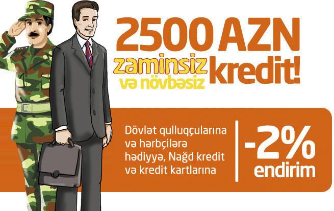 """""""Unibank""""dan hərbçilər və dövlət qulluqçuları üçün güzəştli kreditlər"""
