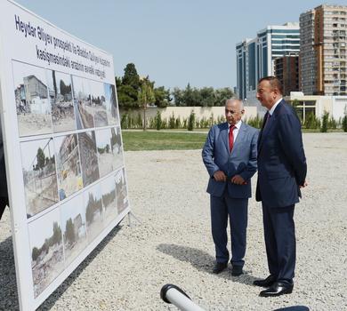 Azerbaijani President inspects new park in Baku (PHOTO)