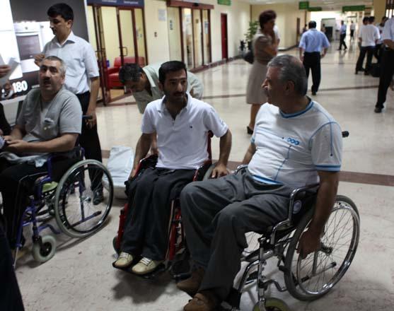 55 nəfər əlil Sakiyə müalicəyə yola salınacaq (FOTO)