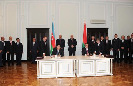 Azərbaycan və Belarus arasında 7 saziş imzalanıb (FOTO)