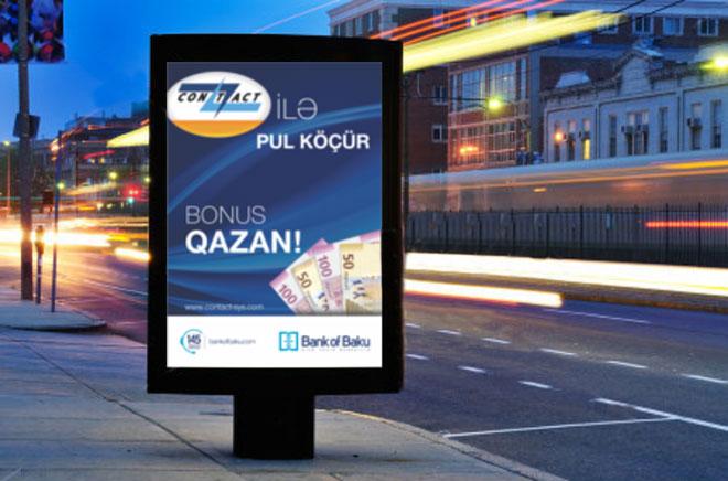 """""""Bank of Baku"""" və """"Contact"""" ilə pul köçür, bonuslar qazan!"""