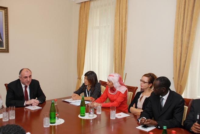 Elmar Məmmədyarov YUNESKO Baş konfransının prezidentini qəbul edib (FOTO)