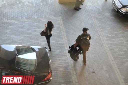 """Rihanna məşq üçün """"Bakı Kristal Zalı""""na gedib (FOTO)"""