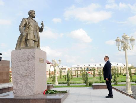 Yevlaxda Səməd Vurğun adına mədəniyyət və istirahət parkı istifadəyə verilib (FOTO)