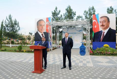 Prezident İlham Əliyev Küllülü-Zərdab su kəmərinin tikintisində işlərin gedişi ilə tanış olub (FOTO)
