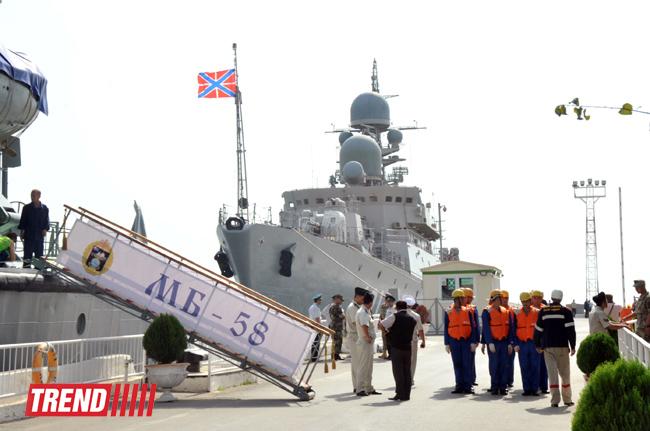 Rusiya HDD-nin Xəzər flotiliyasının gəmilər dəstəsi Bakıya daxil olub (FOTO)