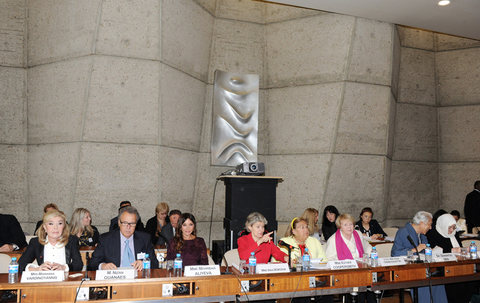 Azərbaycanın birinci xanımı Mehriban Əliyeva UNESCO-nun xoşməramlı səfirlərinin illik toplantısında iştirak edib  (FOTO)