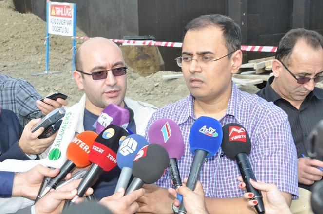 Göyçay şəhərinin su təchizatı və kanalizasiya sistemləri yenidən qurulur (FOTO)