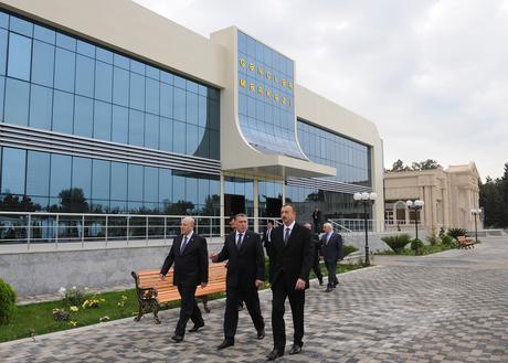 Prezident İlham Əliyev Saatlıda Gənclər Mərkəzinin açılışında iştirak edib (FOTO)