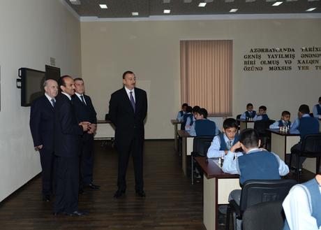 İlham Əliyev Saatlıda Şahmat Məktəbinin açılışında iştirak edib (FOTO)