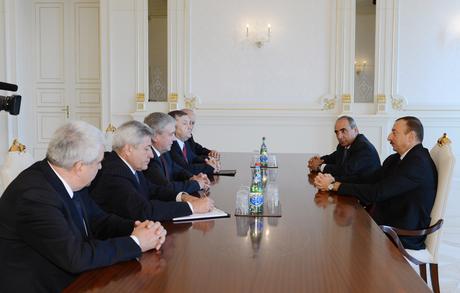 İlham Əliyev Belarusun Baş nazirinin birinci müavinini qəbul edib