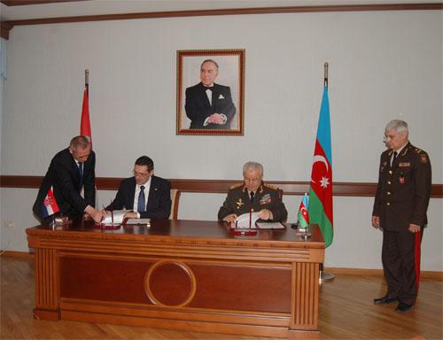 Azərbaycan və Xorvatiya hərbi-texniki əməkdaşlıq haqqında anlaşma memorandumu imzaladı (FOTO)
