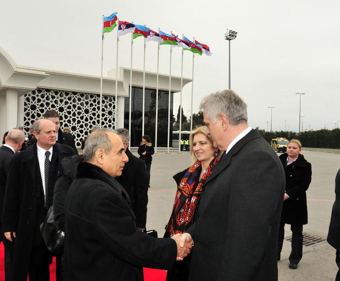 Завершился официальный визит Президента Сербии в Азербайджан